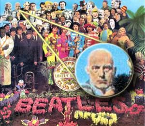 Crowley na capa do disco Sgt. Pepper's
